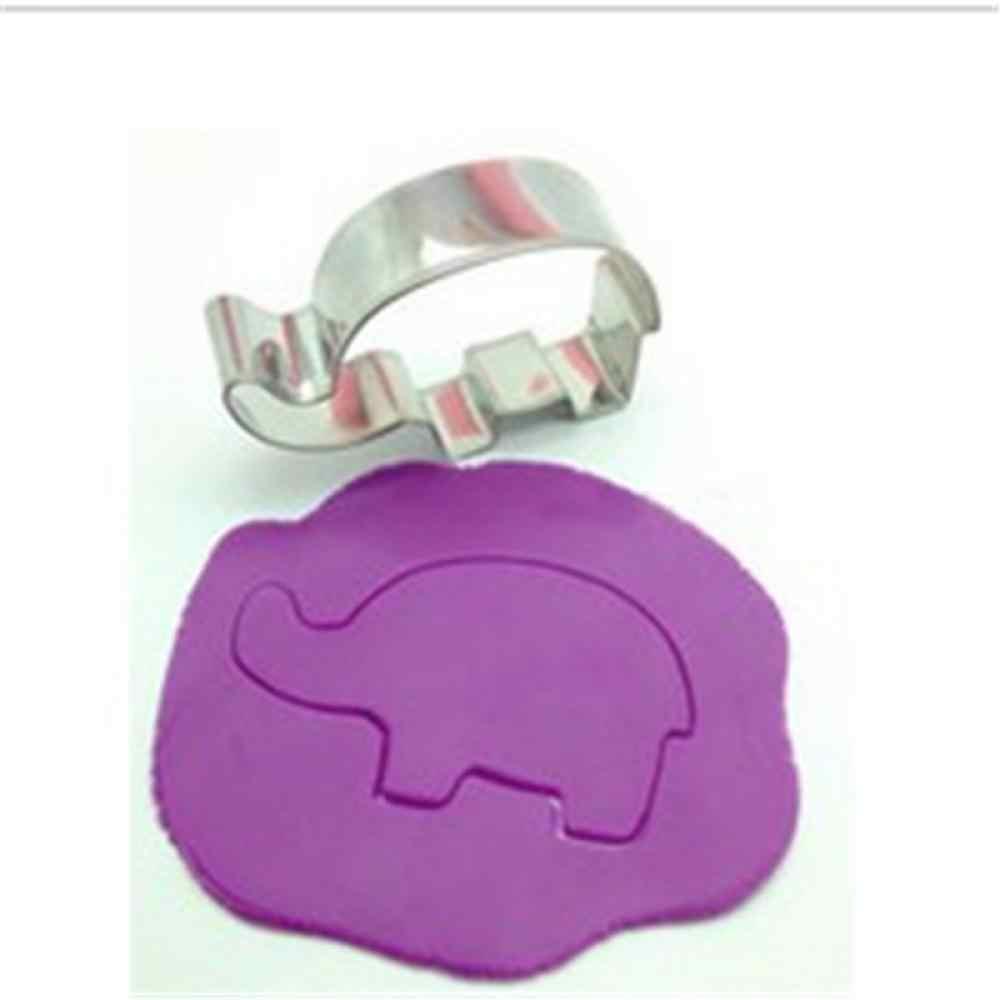 1 Máy Tính Động Vật Hình Con Voi Bánh Kẹo Bánh Quy Khuôn Cắt Cookie Hình Trang Trí Bánh Dụng Cụ Kẹo Đường Thủ Công Chocolate Khuôn Làm Bánh