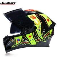 Capacete  moto Helm Jiekai 316 doppel objektiv moto rcycle helm kreuz-land laufen helm full face helm casque moto kreuz