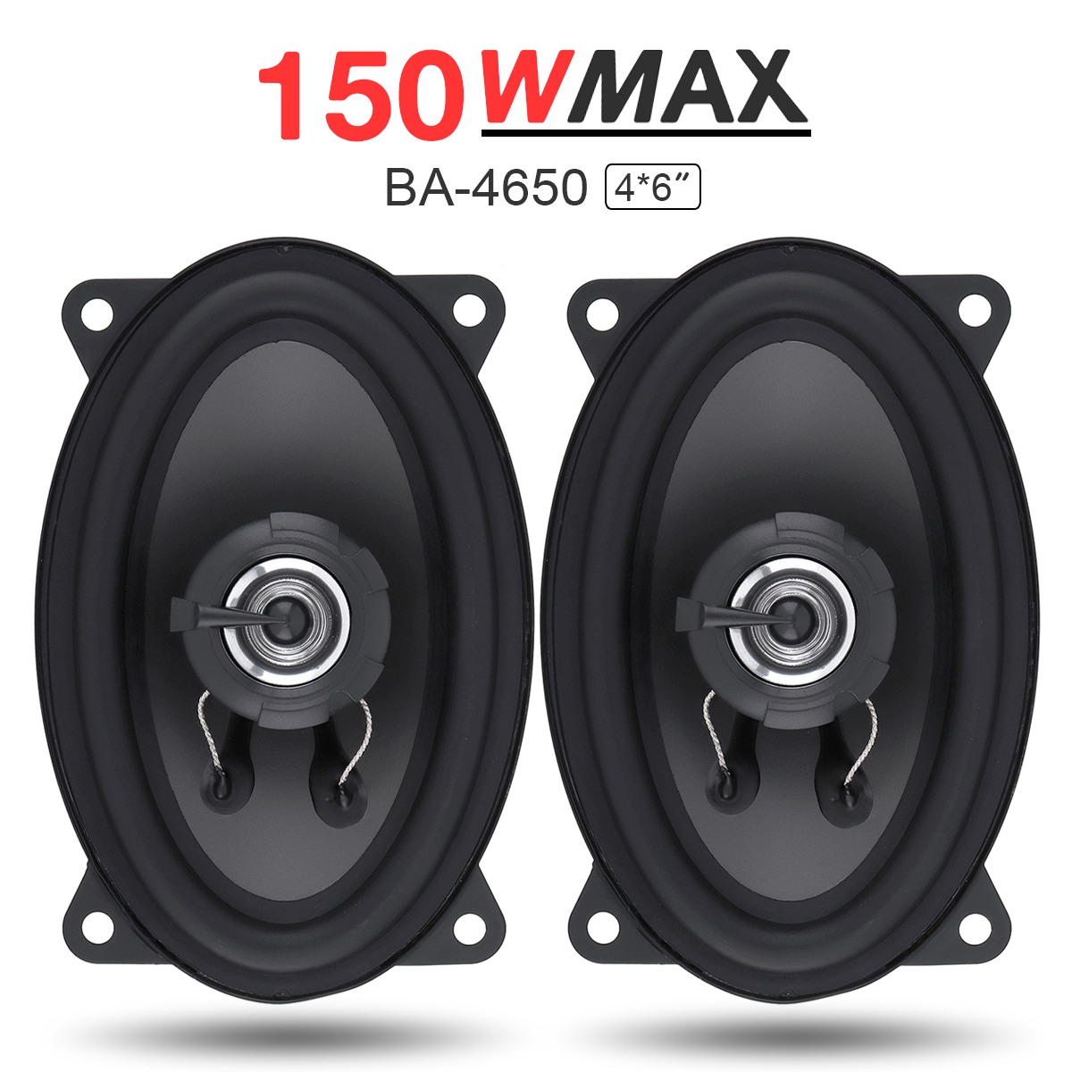 2pcs 4*6 Inch <font><b>2</b></font> Way 150W Car Speaker Automobile Car HiFi Audio Full Range Frequency Coaxial Speaker High Pitch Car Loudspeaker image