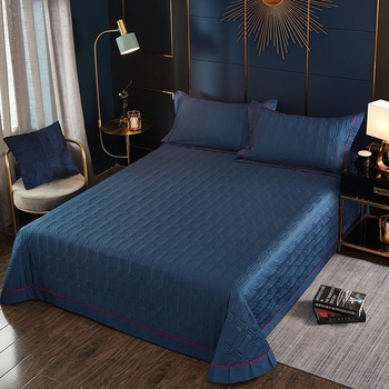 100 Egyptian Cotton Solid Color Quilted Bedspread Queen King Size 3 5pcs Navy Blue Quilt Set All Season Bedspread Coverlet Set Buy At The Price Of 98 44 In Aliexpress Com Imall Com