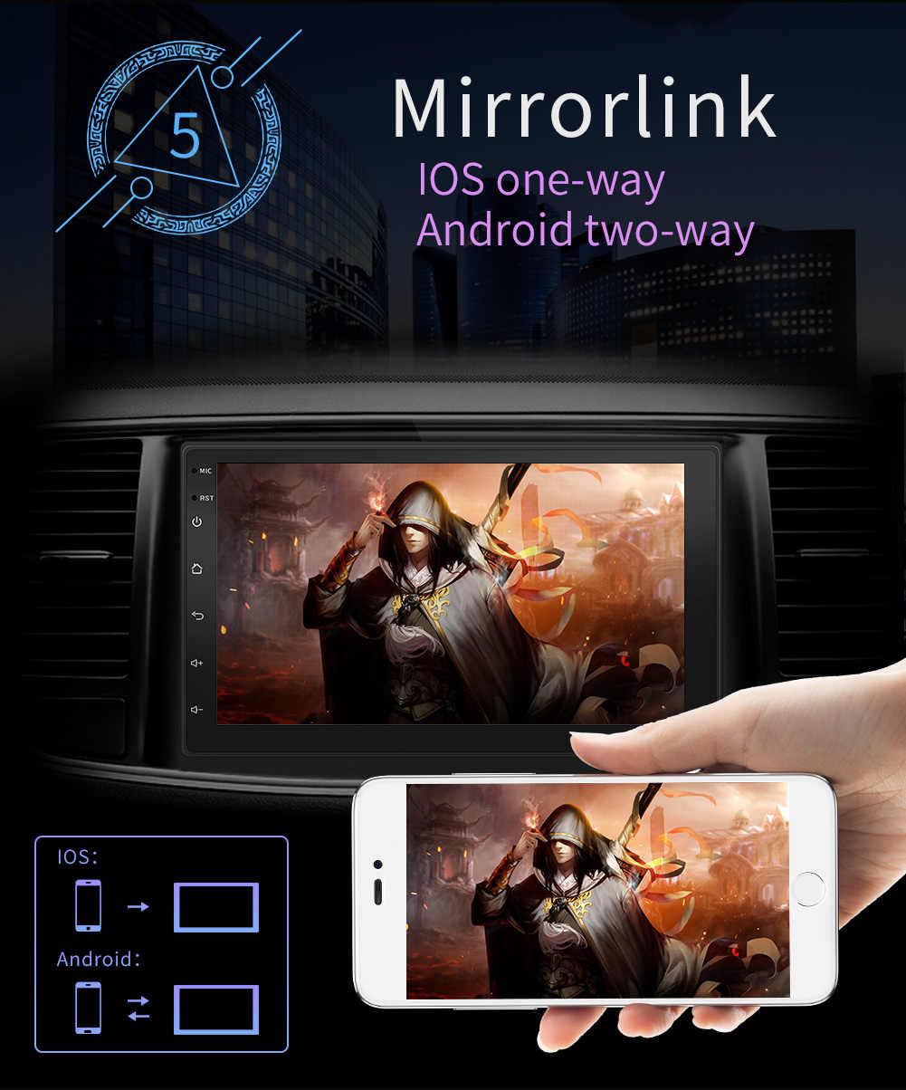 2Din 7in Android 8.1 Màn Hình Cảm Ứng Autoradio GPS NAVI Wifi Xe Hơi MP5 Nghe Đài FM Radio +