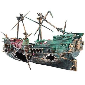 Pirate Ship Decor Ornament for Aquarium