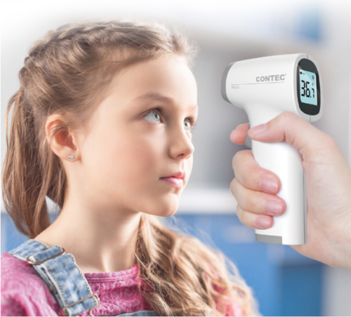 CONTEC  Portable LCD Digital Non-contact IR Infrared Thermometer Forehead Body Temperature TP500 CE