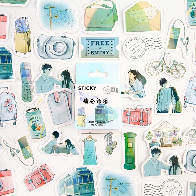 Kamakura Story Decorative Stationery Mini Stickers Set Scrapbooking DIY Diary Album Stick Lable Kawaii Japanese Stationery