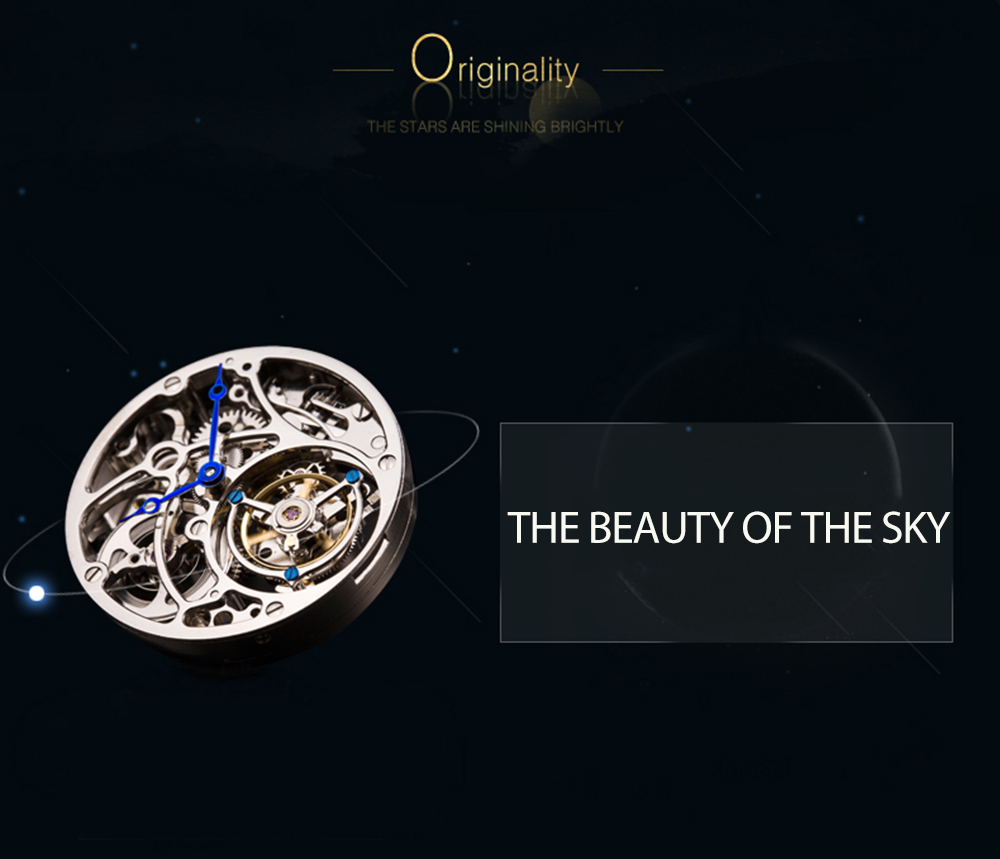 100% Tourbillon GUANQIN Men watches top brand luxury Tourbillon clock men Sapphire Skeleton mechanical watch Relogio Masculino 5