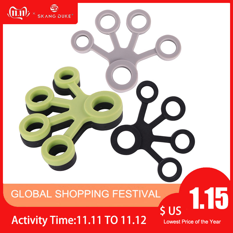 1PC 3 Levels Finger Strength Exerciser Silicone Ring Gripper Crossfit Fitness Finger Extension Strength Grip Finger Training