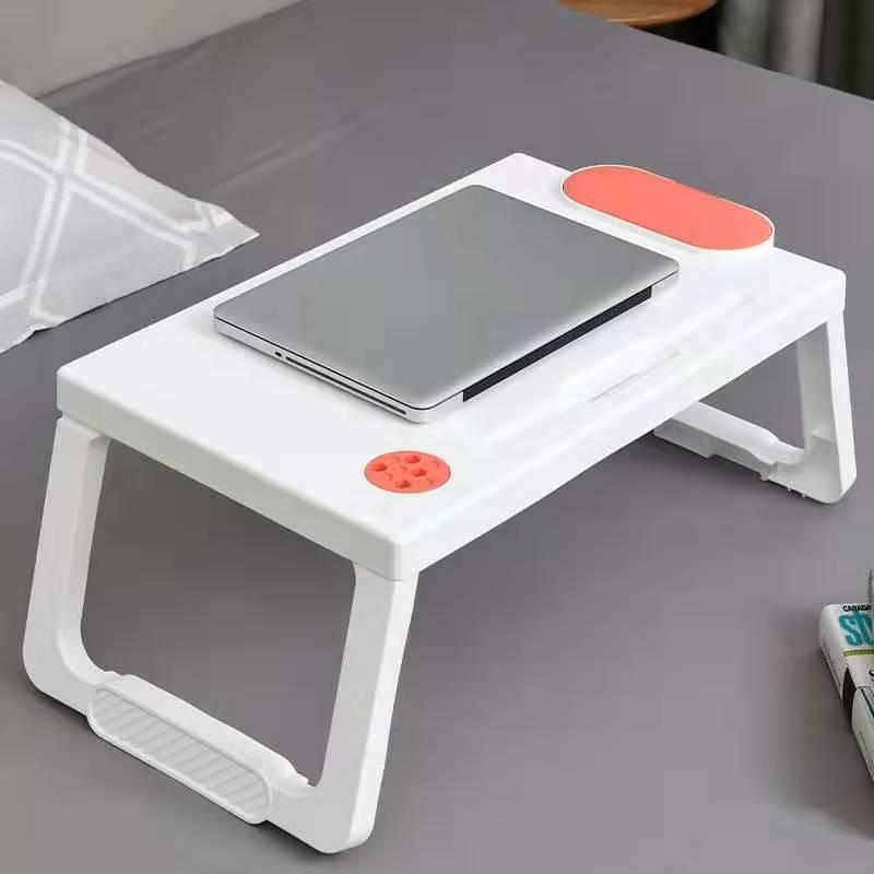Składane plastikowe Laptop łóżko biurko akademik wielofunkcyjny leniwy studium pisanie mały stolik z organizerem dla dzieci sypialnia w domu