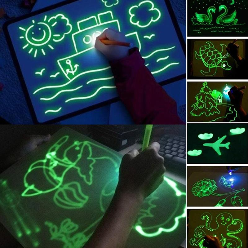 Luminous Painting Board Durable Sturdy High Density A5/A4/A3 Illuminate Flat Painting Board Copy Version Graffiti Writing Board