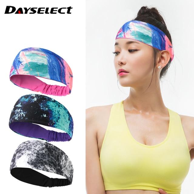 Breathable Absorbent Sports Headband Lycra Sweat Perspiration Basketball Fitness Running Sweat Head Band Belt