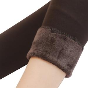 Image 5 - 2020 moda feminina calças de inverno leggings plus cashmere sexy calças quentes super elástico falso veludo inverno grosso calças finas
