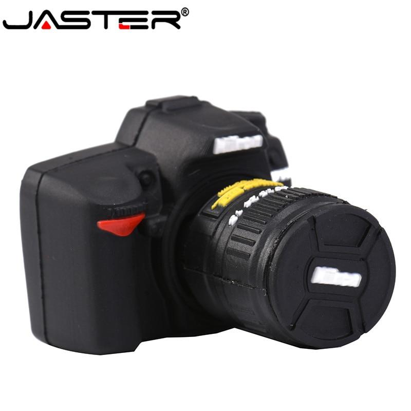 JASTER  Usb Flash Drive 2.0 4gb 8gb 16gb 32gb 64gb 128gb Usb Flash Drive 128 Gb Cartoon SLR Camera Usb Memory Usb