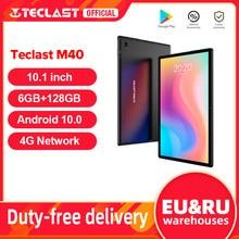 Teclast m40 android 10 tablet 1920x1200 10.1 polegada 4g rede 6gb ram 128gb rom unisoc t618 octa núcleo comprimidos pc duplo wifi tipo-c
