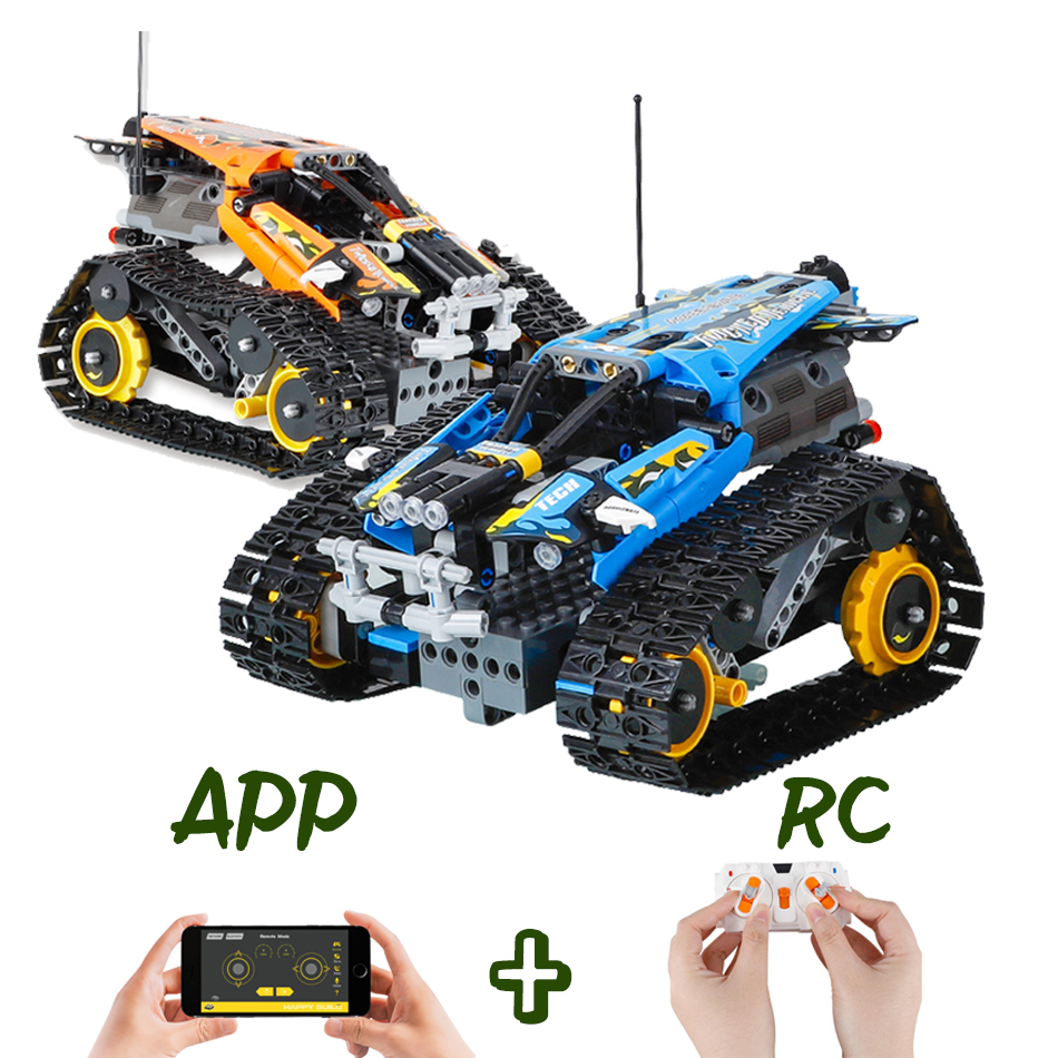 Technic Series Remote APP control Race Car Compatible Children 42095 RC Tracked Stunt Building Blocks Bricks Toy Gift