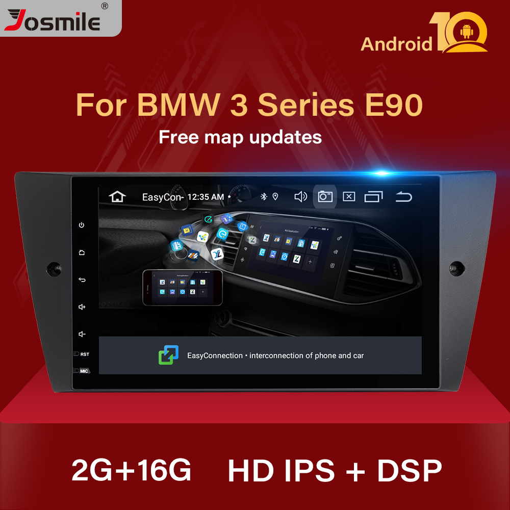 Josmile 1 Din Android 10 Car Radio Multimedia For BMW E90/E91/E92/E93 3 Series GPS Navigation stereo Audio head unit DVD Player image