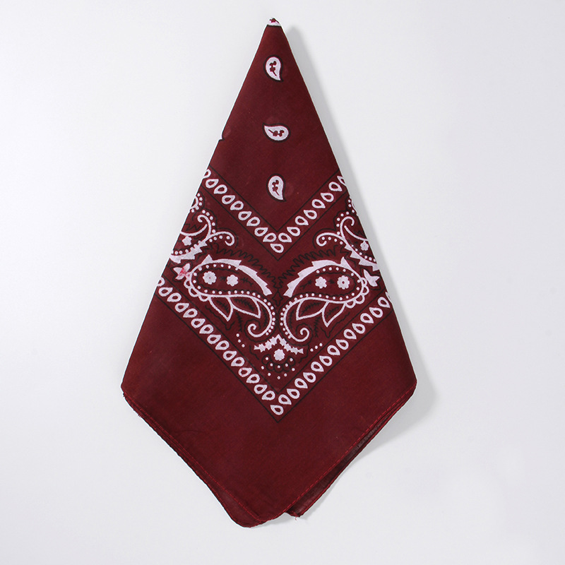 Hd7182e642f0c42a3a37e2e1778cccec9R - 1PC Newest 100% Cotton Hip-hop Bandanas For Male Female Head Scarf Scarves Wristband Vintage Pocket Towel55*55cm
