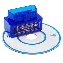 Outil de Diagnostic de voiture Super Mini ELM327, Bluetooth V2.1 ou v1.5, OBD2, Scanner automatique universel, fonctionne sur Android, 40 pièces