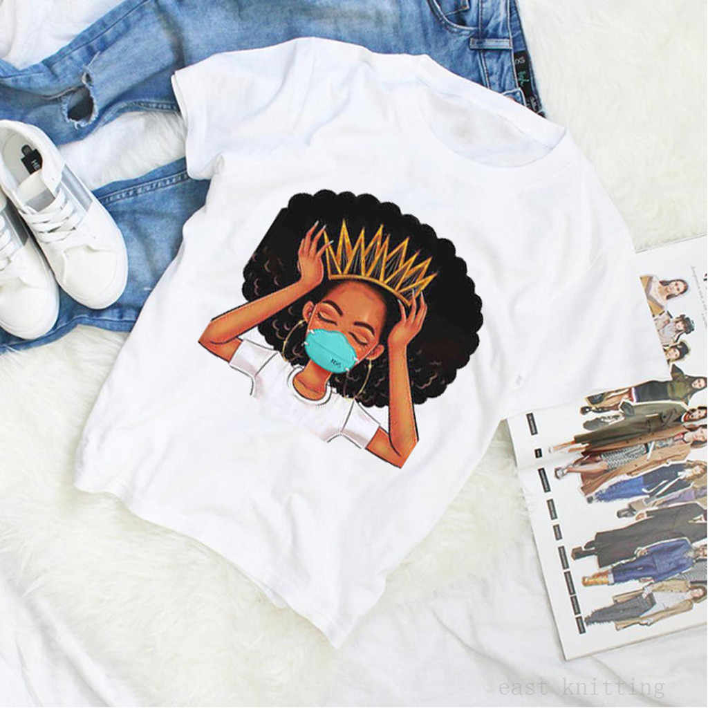 Graphic Tees Women's tshirt funny Casual Mask Print O-Neck t shirt Casual  Short Sleeves Tops Women 2020 Female T-shirt