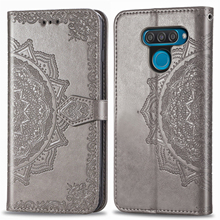For LG Q60 Case Flip Luxury PU Leather Wallet Mandala Embossing Pattern Card Phone Cover for Smartphone Coque Fundas Capa
