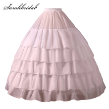 Petticoat Crinoline Underskirt-Accessories Wedding Adult 4-Hoop White Women Slip CQ001