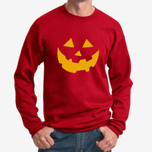 LISCN 2019 Autumn Youth Sweatshirt Halloween Pumpkin Smiley Print Long Sleeve Hooded Loose Sports Pullover