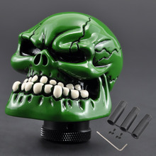 Car Truck Gear Shift Knob Universal Car Manual Gear stick Shift Shifter Lever Knob Skull Head Style Refit Decoration Gear Stick