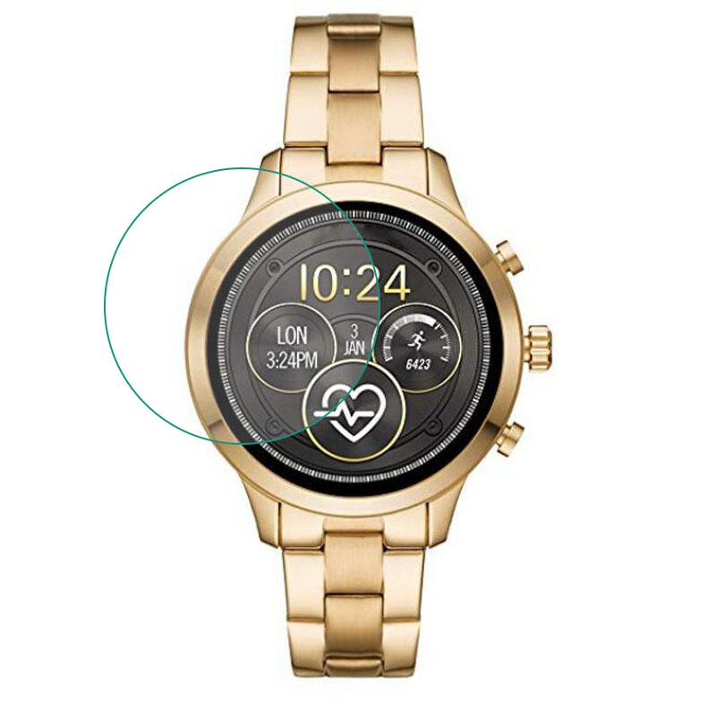 Tempered Glass Protective Film Guard For Michael Kors Access Runway 2018 Watch Smartwatch Screen Protector Cover Protection