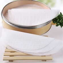 Round silicone steamer mat household steamed buns loose drawer cloth