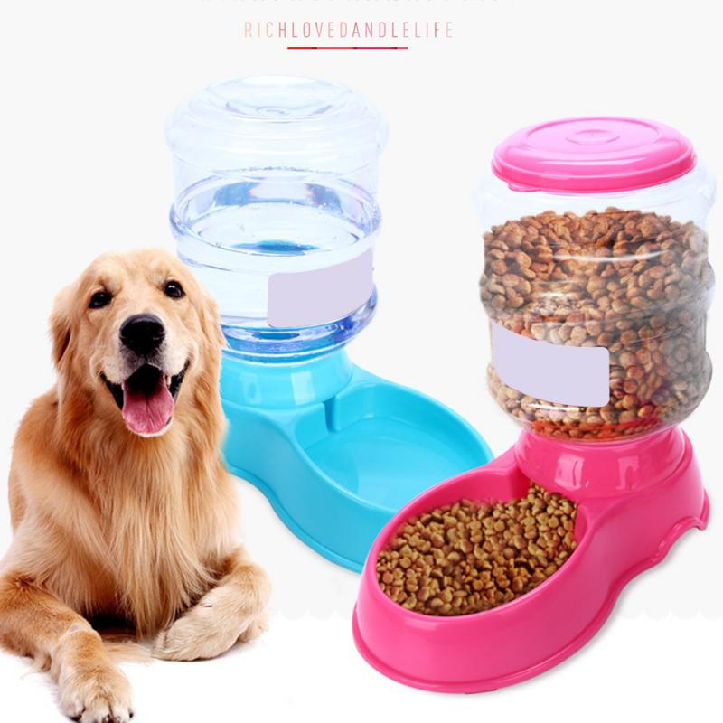 3.5L Plastic Pet Drinkers Cat Dog Automatic Feeder Drinking Animal Pet Food Container Water Bowl For Pets Dog Automatic Drinkers