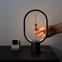 Table Lamp Balance Night Light Mini Ellipse Magnetic Light Touch Switch USB Recharge LED Bedroom Design Lamp for Desk Home Decor