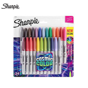 Image 1 - Sharpie Marker Pen Set 12/24 Colored Art Marker Eco friendly Fine Point Permanent Oil Marker Pens Colored Office Stationery