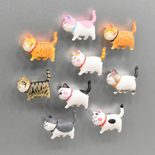 Japanese Style Cartoon Animal Refrigerator Sticker Cat Bell Kitten Magnetic Stickers Fridge Magnet Whiteboard Icebox Decorative 1pcs magnetic fridge magnet cartoon figure pet shop pvc refrigerator magnet whiteboard sticker home decor