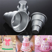 1Pcs New Mini 3 Tier Cake Pan Tins Cake Trays Cupcake Pudding Pizza Molds DIY Home Birthday Party Decors Supplies Wholesale
