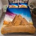 Постельный Комплект из трех предметов Фараона  египетского  с 3D принтом пирамиды  Хлопковое одеяло  Чехол на подушку