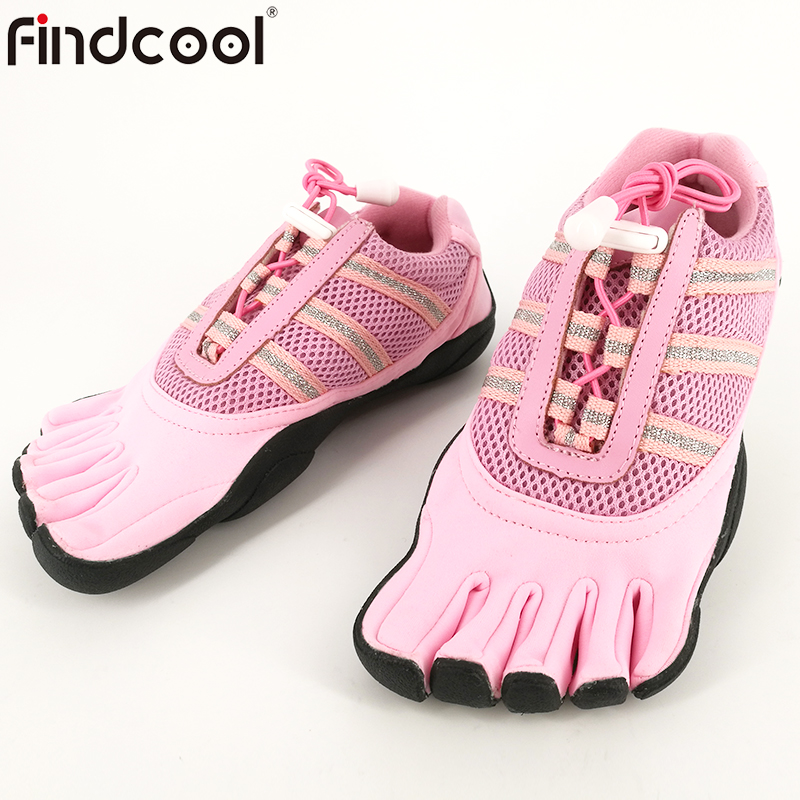 Findcool Couples Five Finger Shoes Yoga Shoes Five Toe Shoes Lace-up Barefoot Net Shoes Bresthable for Men Women