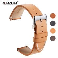 Calfskin Leather Watchband Quick Release Watch Band Wrist Strap 18mm 20mm 22mm 24mm Smart Watch Strap Watches Accessories