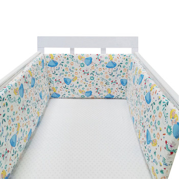 baby nursery Nordic Stars Design Baby Bed Thicken Bumper One-piece Crib Around Cushion Cot Protector Pillows Newborns Room Decor 28