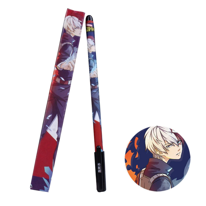 Japanese Anime NARUTO Artificial Boxed Anime Gel Pen My Hero Academia Gel Pen Creative Stationery Student Writing Tool