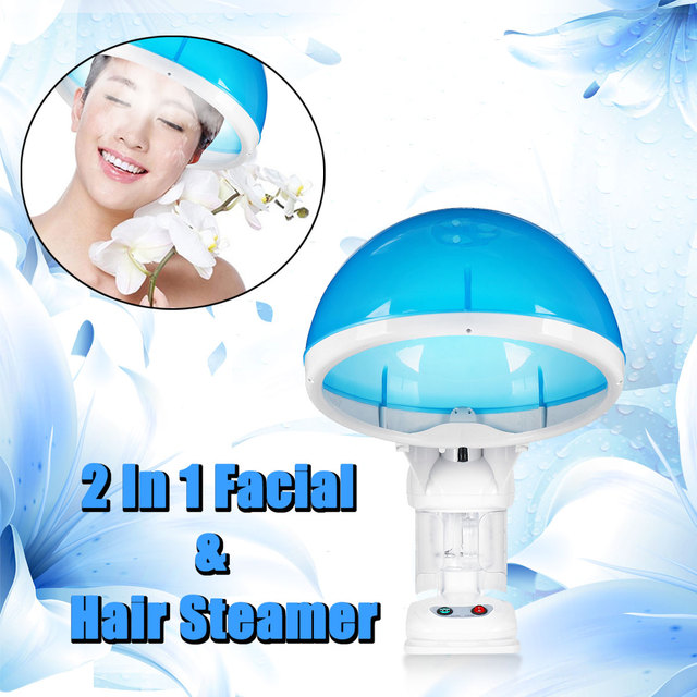 Professional 2 in1 Personal Facial Table Top Face Hair Steamer Salon Ozone-Aroma Hair Moisture 110V/220V PTC Heating Plate 1
