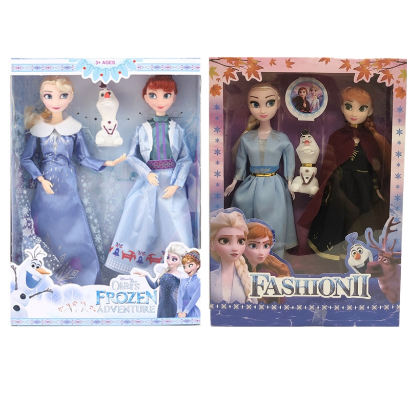 Anna And Princess Elsa Doll Presents For The Latest Frozen 2 Hand Toys