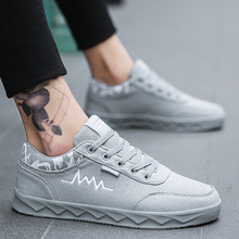 2020 new men casual shoes fashion breathable lace-up flats m