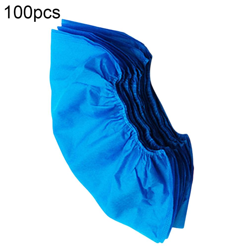 100pcs Disposable Shoe Cover Dustproof Non-slip Dhoe Cover Children Students Adult Non-woven Shoe Cover Household Foot Cover New