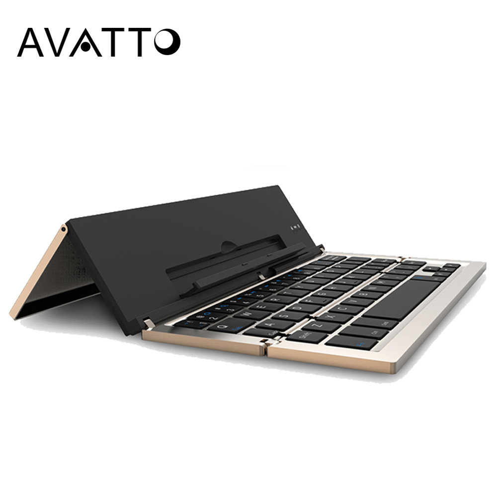 [AVATTO] New Arrival Foldable and Portable Bluetooth 3.0 Wireless Laptop Tablet Phone Mini Keyboard for Android IOS Mac Windows image