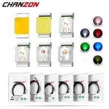 100 pces 0402 smd diodo emissor de luz lâmpada chip contas luz quente branco vermelho verde azul amarelo micro cor circuito pcb 3v mini smt