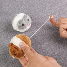 Cute Cat Toys Plush Fur Toy Shake Movement Mouse Pet Kitten Funny Rat Safety Plush Little Mouse Interactive Toy Gift