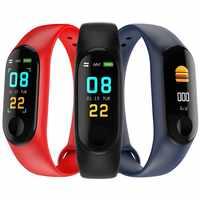 Per il Fitness braccialetto CARCAM BANDA INTELLIGENTE M3 pedometro, monitor della frequenza cardiaca, IP67, misuratore di pressione sanguigna