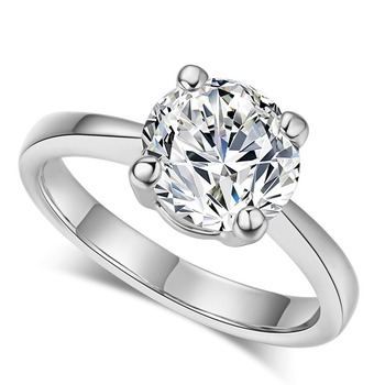 Luxury Rose Gold Women Diamond Ring for Wedding Engagement Statement Rings Rhinestone AAA White Zircon Cubic Rings Fine Jewelry 1