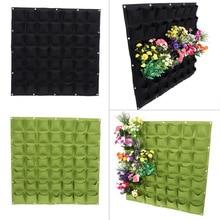 Настенные Висячие Сумки для посадки 9/18/36/54/64 карманы зеленая сумка для выращивания растений Вертикальная садовая сумка для овощей
