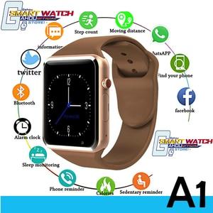 Горячая 2020 A1 смарт часы телефон часы Спорт Bluetooth Поддержка G2 SIM TF камера Smartwatch для Android IOS мужчин PK GT08 DZ09 Q18 x6