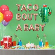 Décoration en forme de Cactus, Festival de la nourriture mexicaine, Taco pour bébé, ballon en forme de lettre, plante gonflable, pour anniversaire, nouvelle collection