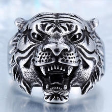 2020 New Product: Tiger Head, Tiger Head, Titanium Steel Ring, Personalized Vintage Stainless Steel Ring